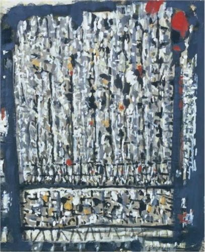 Composition grise - Roger Bissière