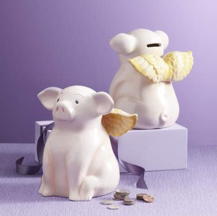 Invest in a Pier 1 Flying Piggy Bank