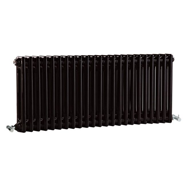 Premier - Regency 2 Column Radiator - 400 x 1055mm - High Gloss Black - MTY079 at Victorian Plumbing UK