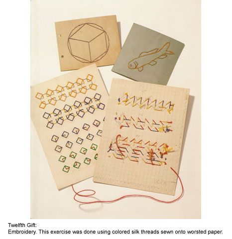 The Institute For Figuring // The Twenty Gifts 12th gift. embroidery.