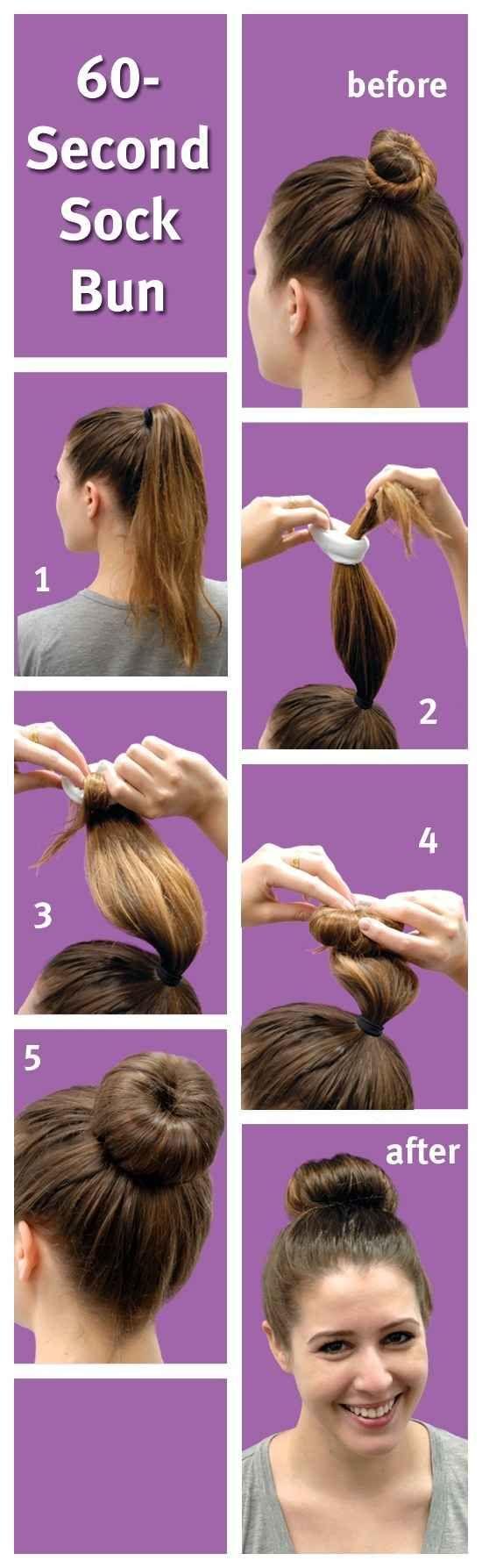 Además, siempre está el moño de emergencia con un viejo calcetín. | 18 consejos ingeniosos para el cabello cuando vas al gimnasio