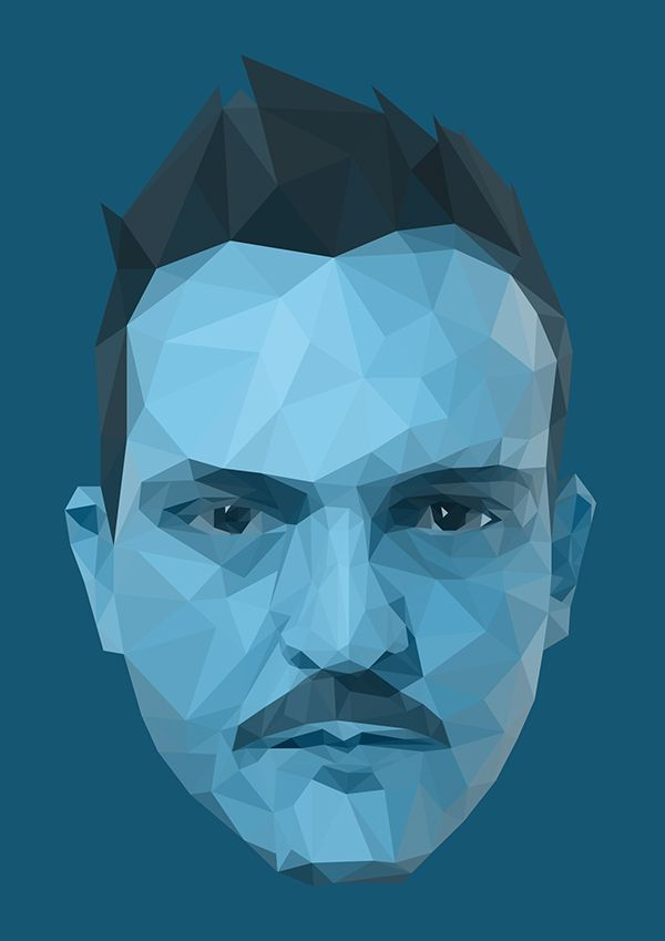 Low Poly self portrait on Behance