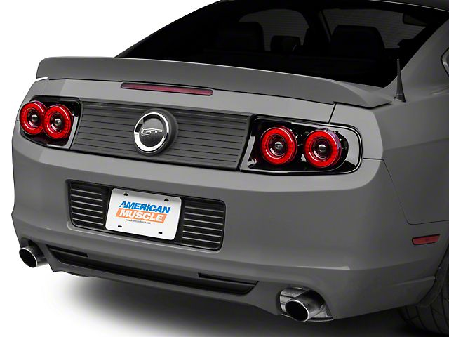 Raxiom Mustang Dual Halo Led Tail Lights 397460 13 14 All Led Tail Lights Led Halos Tail Light