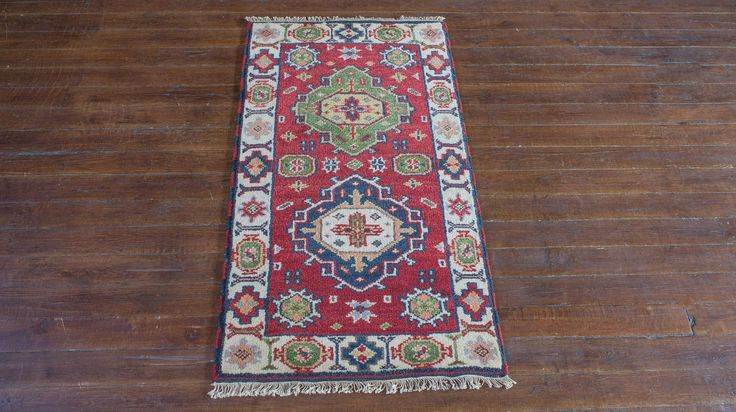Hand Knotted Indo Kazak Rug from India. Length: 122.0cm by Width: 66.0cm. Only £97 at https://www.olneyrugs.co.uk/shop/rugs-for-sale/indian-indo-kazak-19655.html    Take a peek at our ravishing set of oriental and Persian rugs, carpets, kilim ottomans and Kilim cushions at www.olneyrugs.co.uk