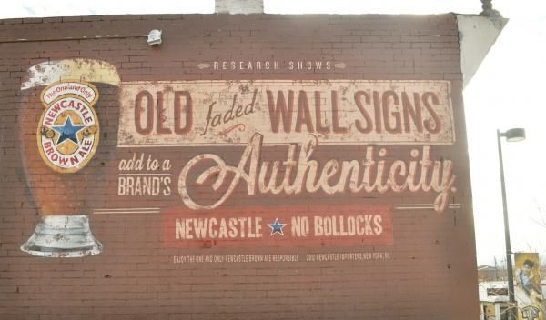 OLD FADED WALL, Newcastle Brown Ale, Droga5, Newcastle Brown Ale, Print, Outdoor, Ads