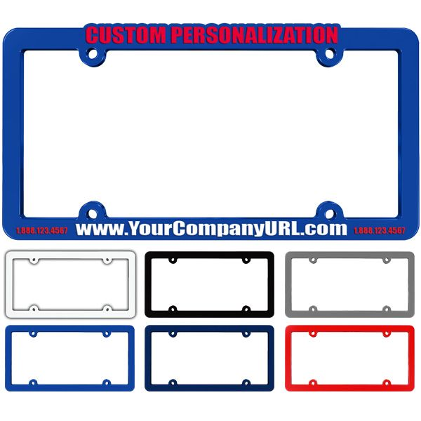 Take your brand on the road with these raised plastic license plate frames! Constructed  sc 1 st  Pinterest & 22 best License Plate Frames with your Slogan or Brand Logo images ...