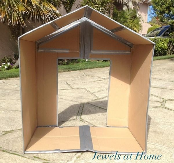Diy Miniature Doll House Flat Packed Cardboard Kit Mini: 25+ Best Ideas About Cardboard Playhouse On Pinterest