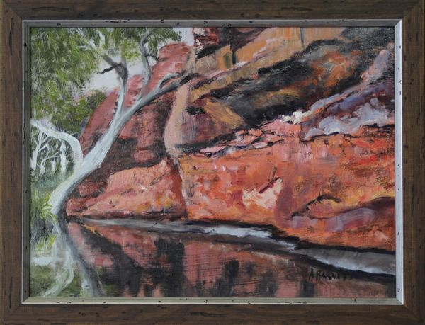 Durber Springs Canning Stock Route W.A. - Oil on MDF