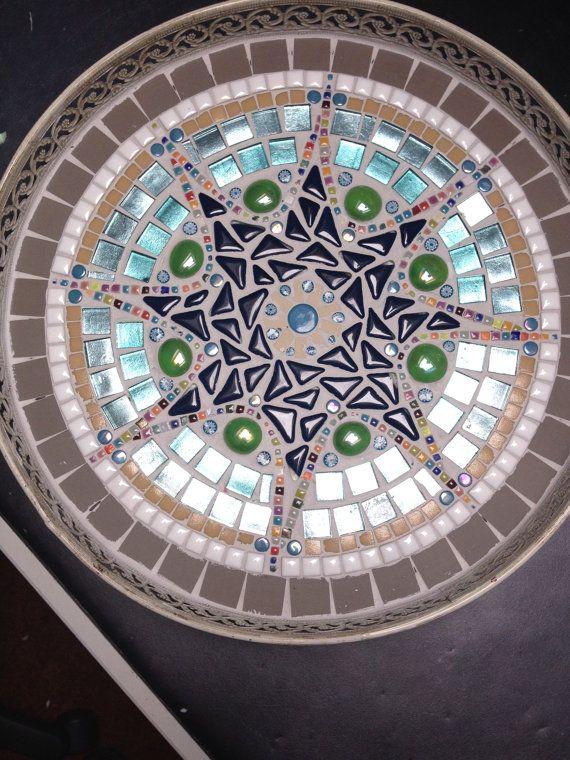 huis decoratie glasmozaiek metalen retro door CapolavoriDiMosaico