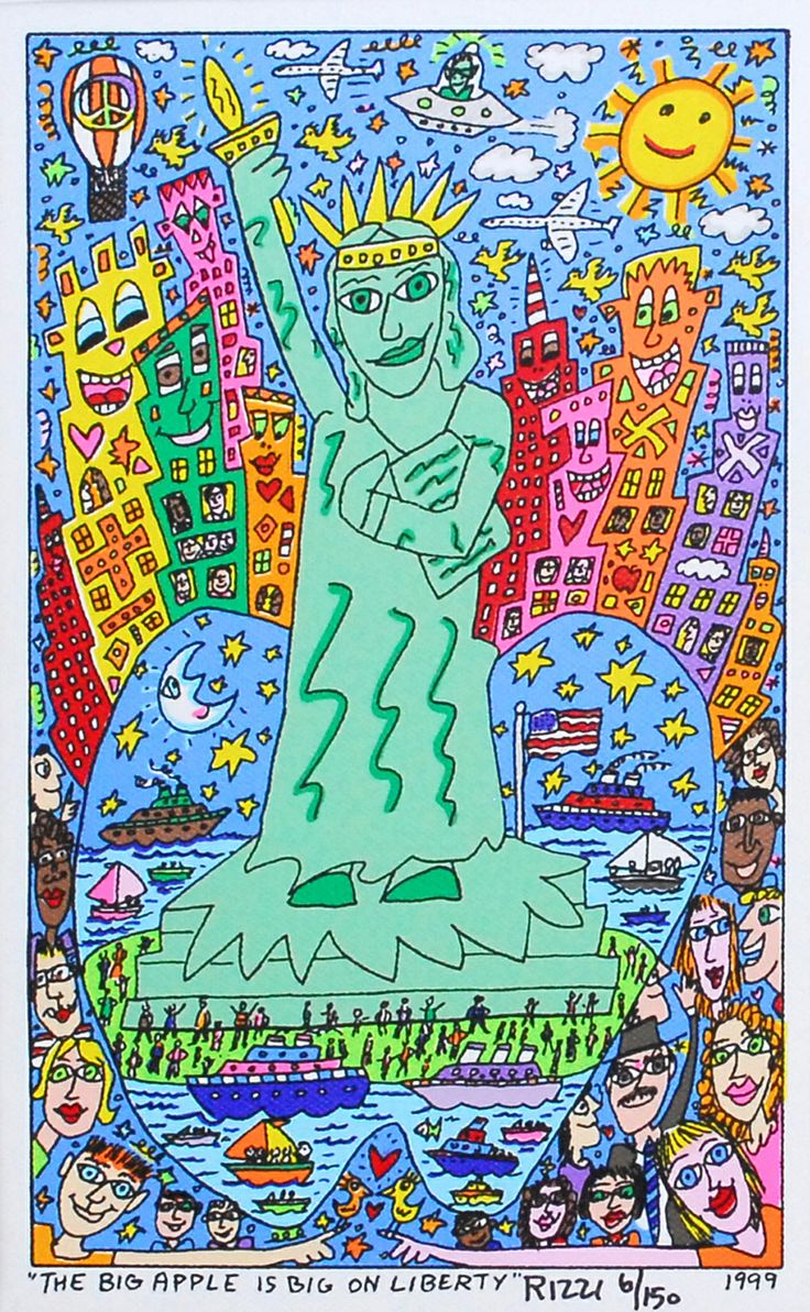 James Rizzi: The Big Apple Is Big On Liberty - Galerie-F