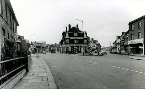 Looking south towards the Green, mid. 1960's.