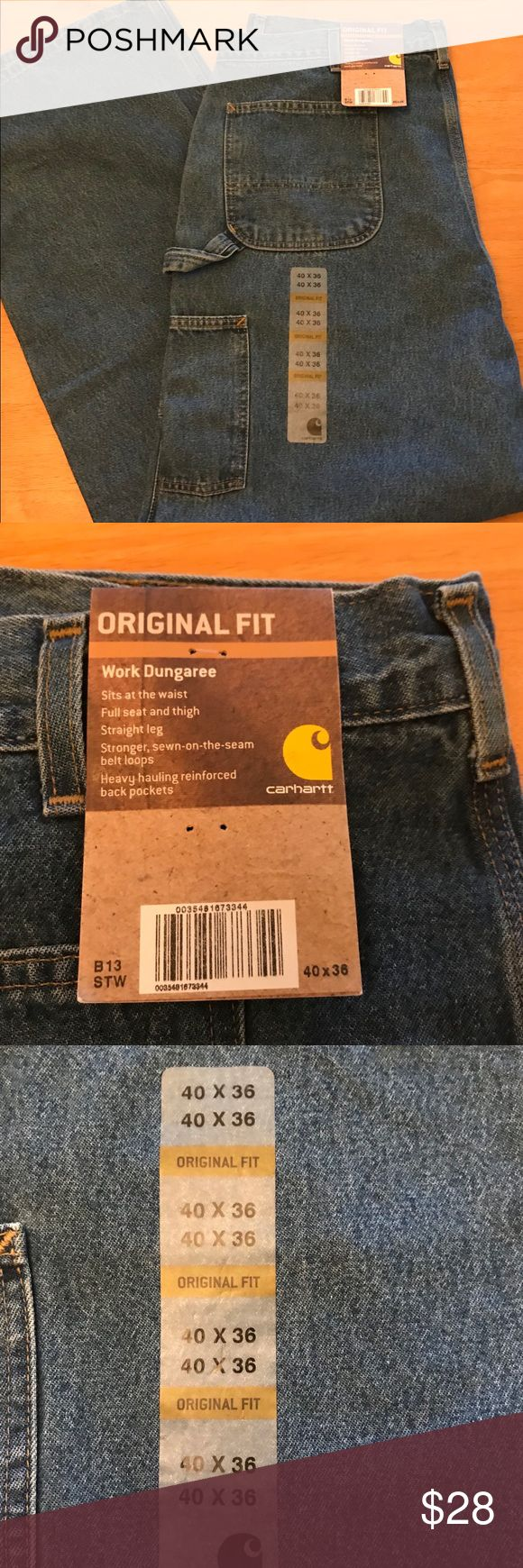 Carhartt Work Jeans 40 x 36 New NWT Carpenter pant These carhartt work dungarees are brand new with tags! Size 40x36   From a smoke & pet free home!  I have lots of Big & Tall clothes listed so please check out my closet! Carhartt Jeans Relaxed
