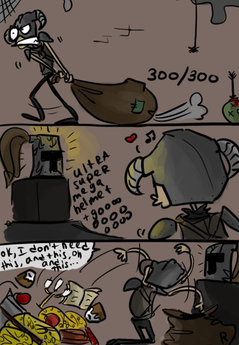 This is so very true about me in every Elder Scrolls game. By Ayej on Deviantart.
