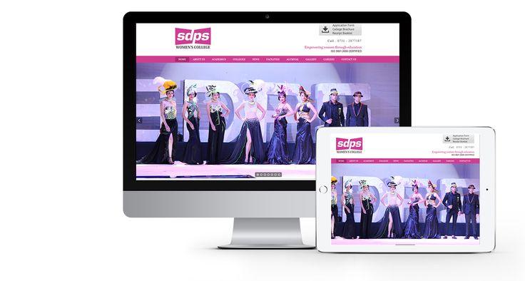 SDPS, A women's college.  #Wordpress #Webdesign #Responsive