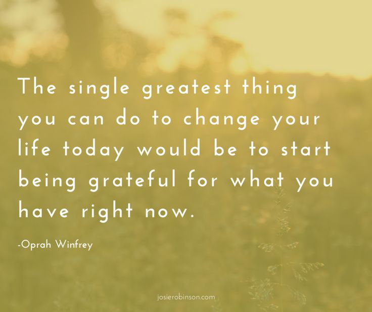 One of my favorite quotes about the power of gratitude from Oprah...Click to watch video of her sharing how keeping a gratitude journal changed her life...