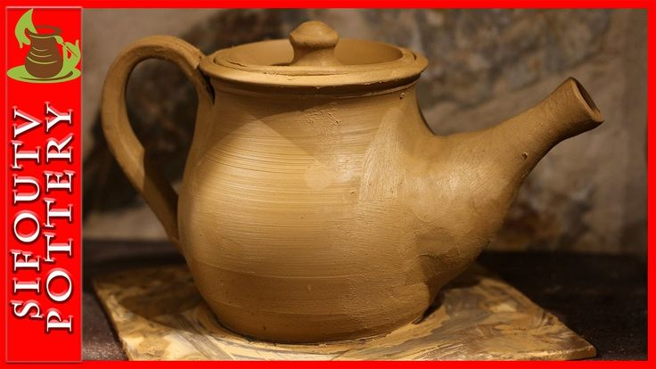 Pottery throwing - How to Make a Pottery Teapot #93