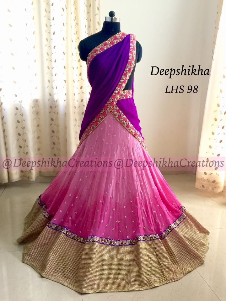 Beautiful bridal lehangas in jaw dropping styles from Deepshikha creations  Unique, stylish designer lehangas in great color combinations can be customized to your color preferences. best suits for receptios and mehandi functions