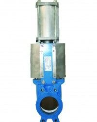 ACTUATED KNIFE GATE VALVE PERTH  Actuated Knife Gate Valve Perth will operate by a disc moving up and down to control flow and isolate a pipeline. Actuators can be Electric, Pneumatic, Hydraulic. The valve disc operates like a knife to isolate flow hence the name.   Please do contact us at - http://dewaterproducts.com.au/product/actuated-knife-gate-valve-perth/