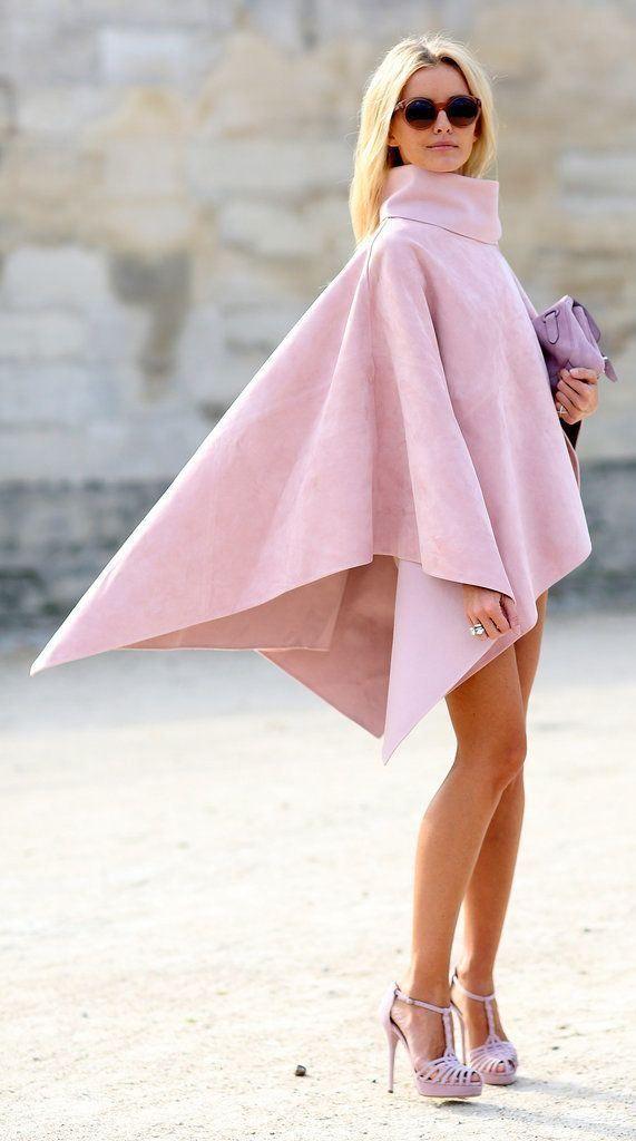 Stunning cape in blush pink / karen cox.