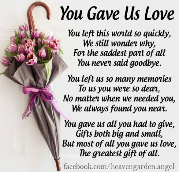 The Greatest Gift Our Mother Gave Us Was Her LOVE...