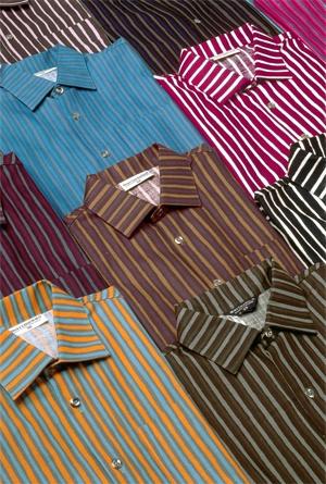 Marimekko Jokapoika-shirts. Designed by Vuokko Nurmesniemi.  Splendid shirts; have MANY! (Connie Price)
