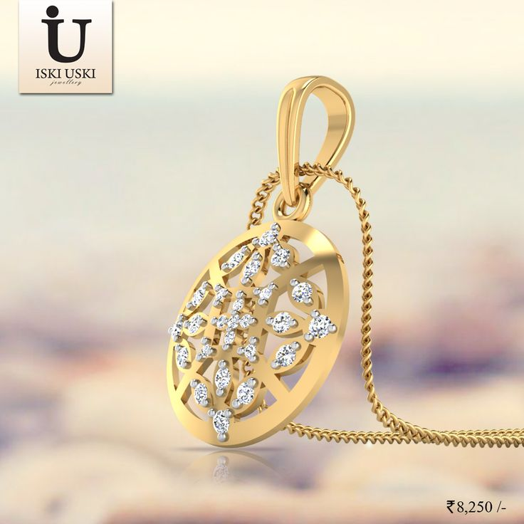 Be a princess with our Elegant Diamond Pendant.#Pendants #DiamondPendants #IskiUski #GoldPendants