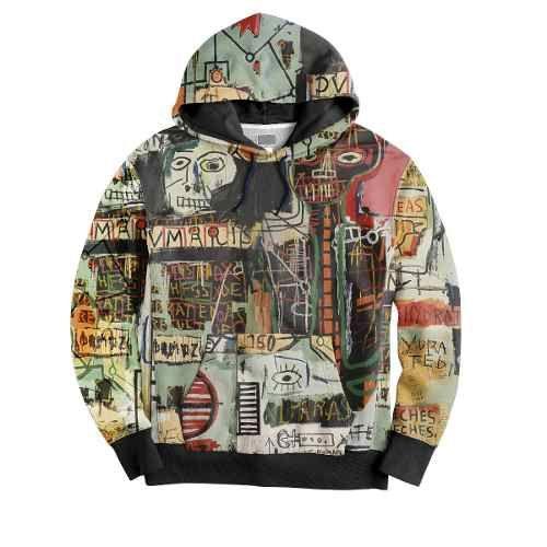 a89606ad3d Blusa Moletom Canguru Basquiat Graffiti Pixo Street Art Hype. Clique na  foto e confira no