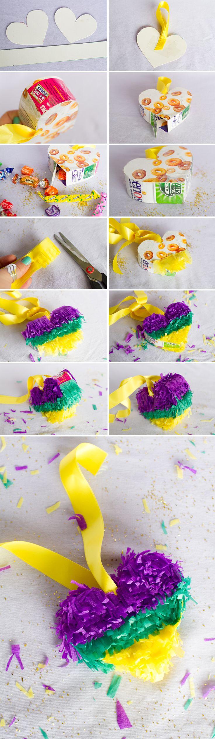 Mini heart pinata DIY Tutorial how to make a pinata wedding diy mexican wedding fiesta cinco de mayo fun