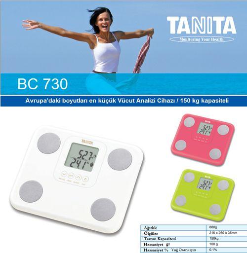 TANITA'nın yeni icadı, En küçük... Ürünün temel özelliği öncelikle seyahat boyu yani boyut olarak oldukça küçük, farklı, şık ve tarz renklere sahip olması. Diğer gelişmiş vücut analiz cihazlarında olan neredeyse tüm özelliklere sahip olması. Ürün detayları için sayfamızı ziyaret edebilirsiniz.  http://tarti.com/11/bc-730.html