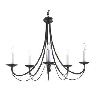 With a sleek and elegant design, this Gallery Versailles chandelier adds sophistication to both traditional and contemporary decors. The candle-style light sockets and wrought iron construction blend