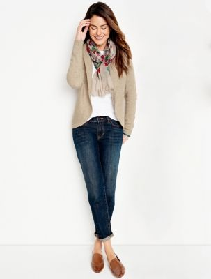 Talbots - Diamond & Cable Back Cardigan | New Arrivals |