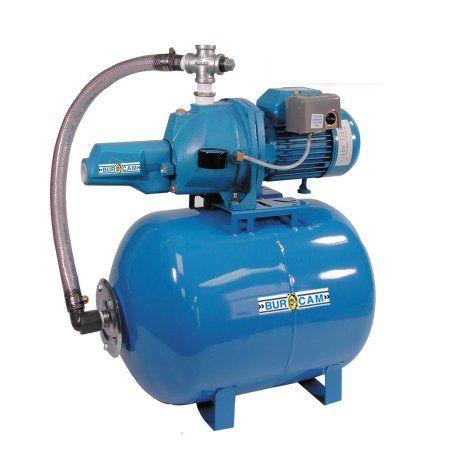 BurCam 506328 Convertible C.I. Jet Pump on Ml60H Tank, 1/2 hp, 115V/230V, Blue
