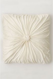 Pulled Pillow DIY. Love it! Would make like, 5 of these for my bedroom!