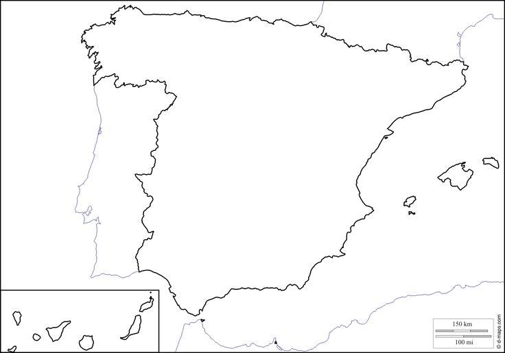 Cartina Muta Della Spagna Da Completare.Espagne04 Gif 1388 972 Spagna Mappa Geografia