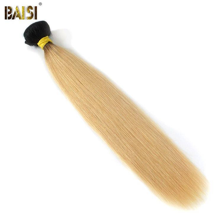 BAISI Brazilian Hair Extensions 14-24inch Dark Roo…