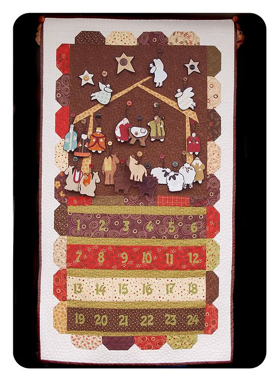 I found it!  An idea for a Nativity Advent Calendar - Praise God. Now all I need is the time to design and make several for the children I know and love!