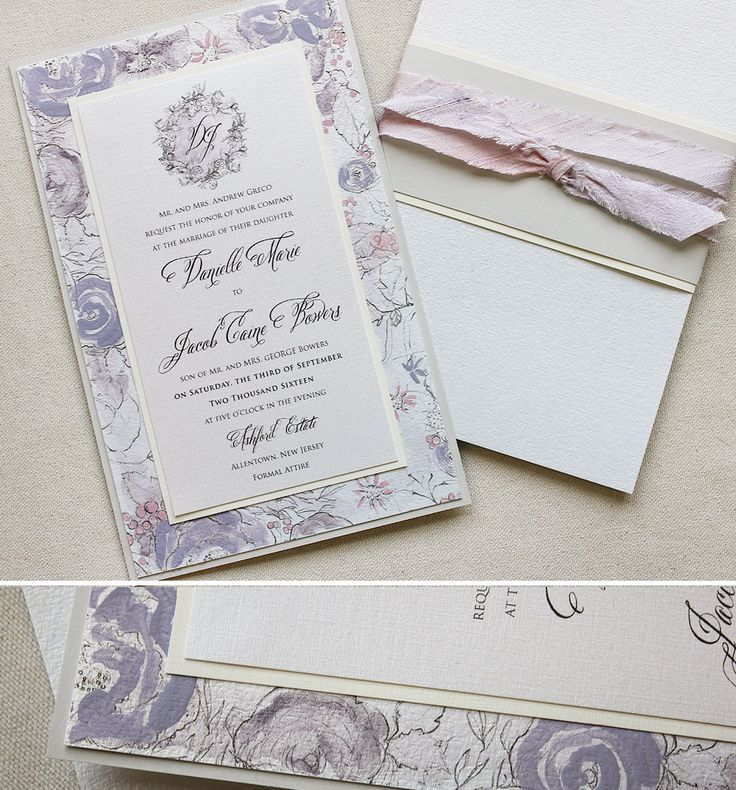 lotus flower wedding invitations%0A Danielle G   Vintage Lotus Wedding Invitation