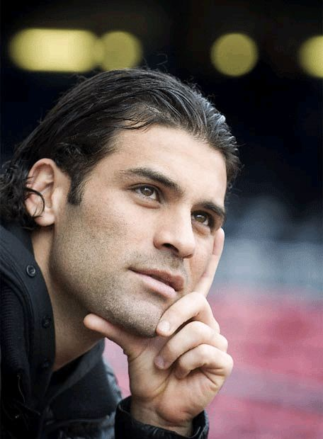 Rafa Marquez I love him with his short hair too but... his long hair is perfect