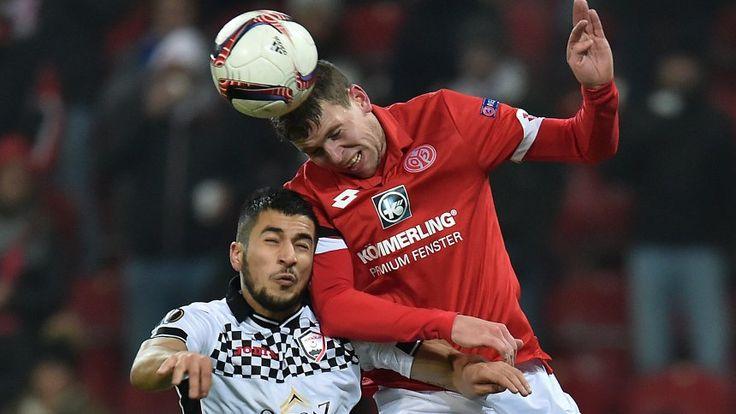 Eurolegue 16/17: Mainz 05 - Quäbala 2:0 - Fabian Frei (r.) und Urfan Abbasov