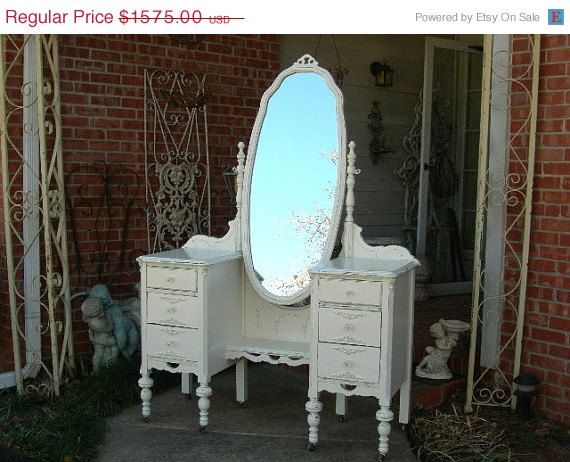 ON SALE CUSTOM Vanity Order Your Own Antique Furniture The Shabby Chic Furniture Painted Furniture Shabby Vanity Painted Vanity Nationwide S