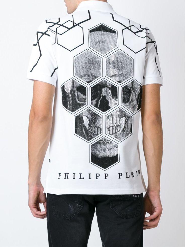 Philipp Plein Polo Con Estampado Geométrico - Verso - Farfetch.com