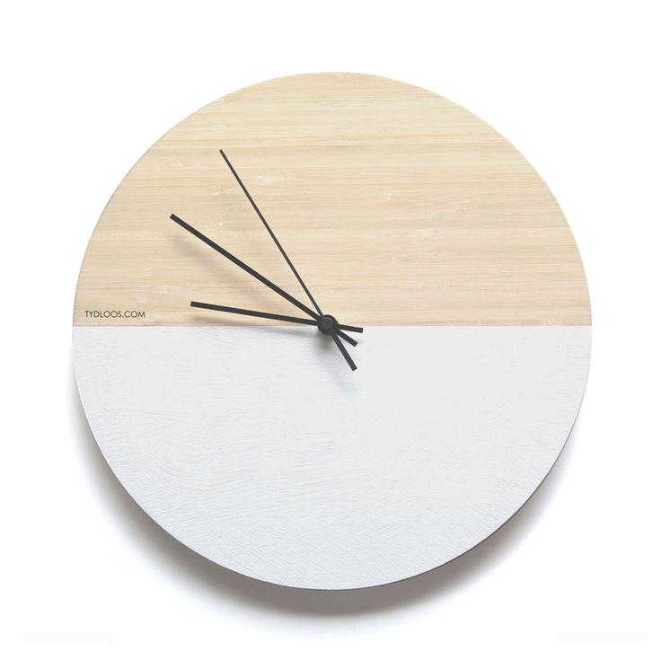 White Hemisphere wall clock