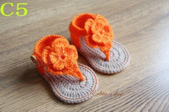 Aliexpress.com: Koop gratis verzending gehaakte baby sandalen, baby oranje bloemen slippers, gehaakte baby schoenen, maten 0 12 maanden van betrouwbare schoenen zomer leveranciers op Handmade crochet Store