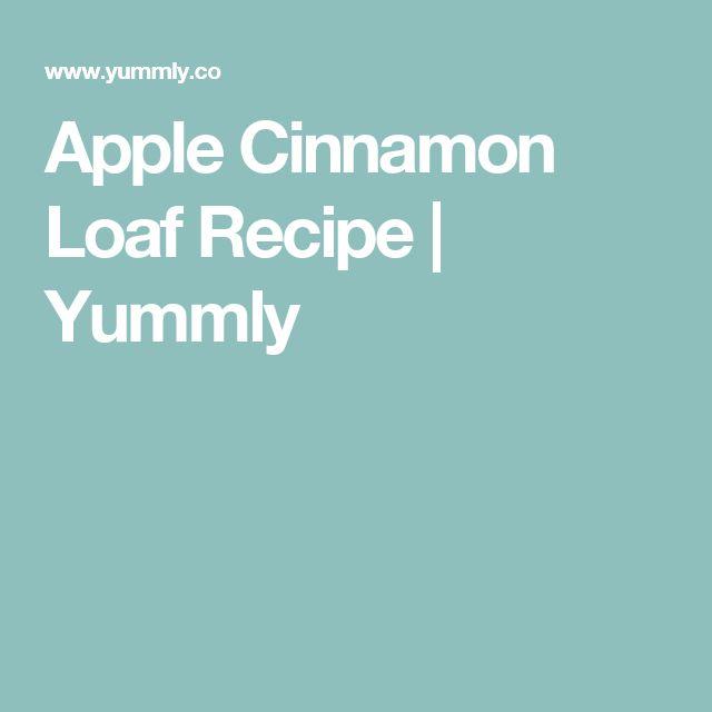 Apple Cinnamon Loaf Recipe   Yummly
