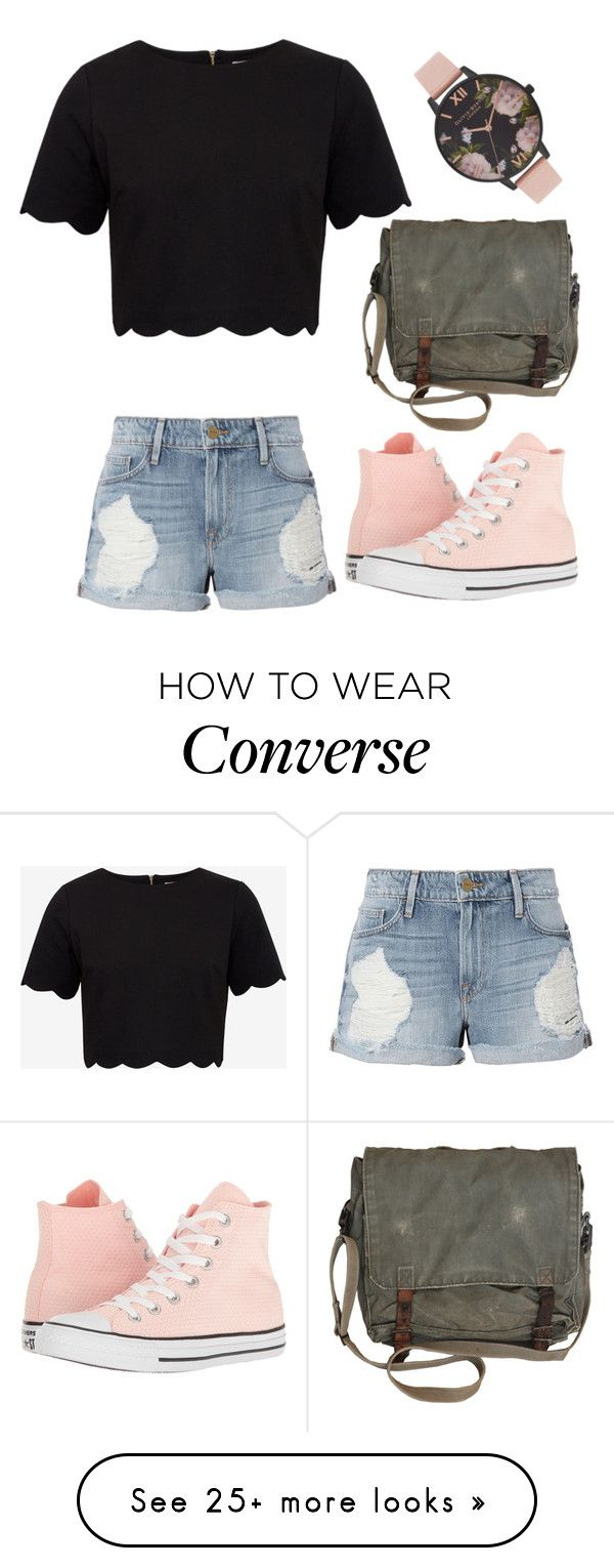 """Liana"" by wanderlustpan on Polyvore featuring Ted Baker, Frame, Converse and Olivia Burton"