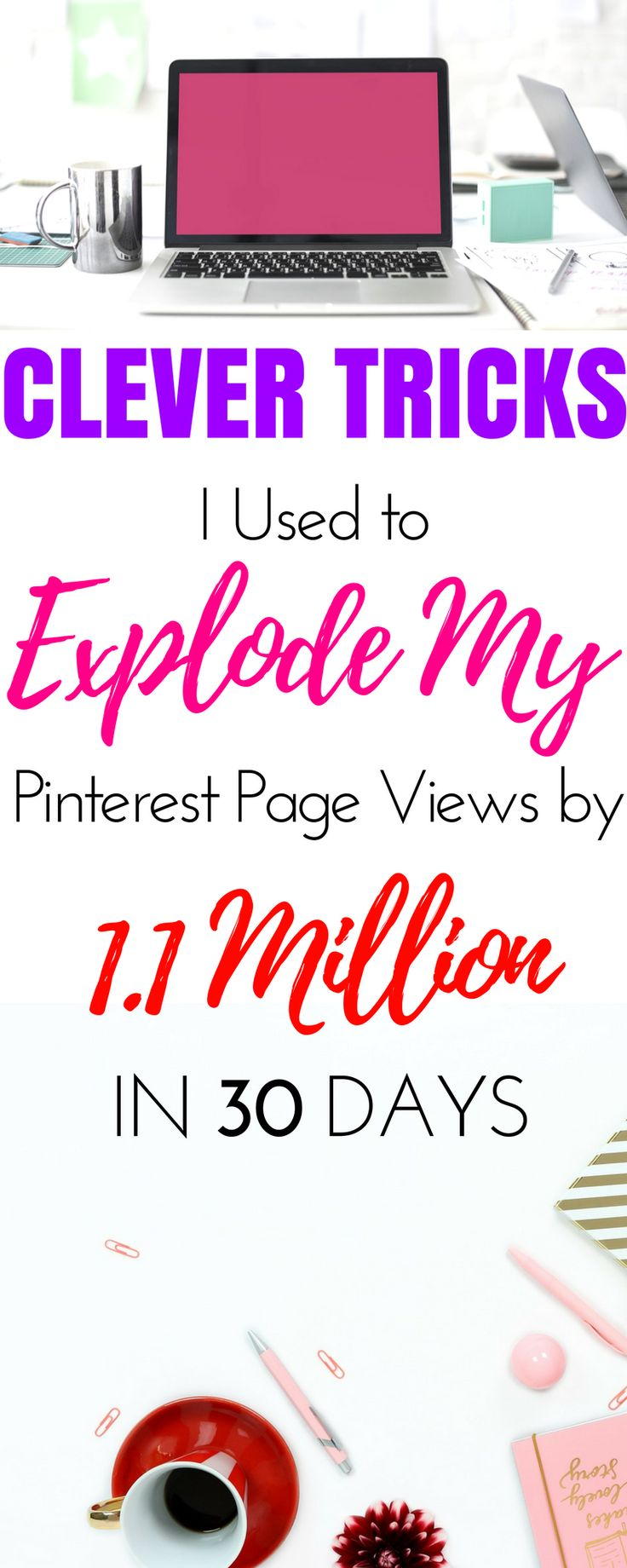 Learn how to use Pinterest for beginners with all the tricks and tips I used to increase my Pinterest page views fast! Quickly learning everything you want to know about tools and ideas to grow your Pinterest reach for business or for blogging. These great ideas for Pinterest strategy will be so helpful for your blog website. #blogging #socialmedia #increasepageviews