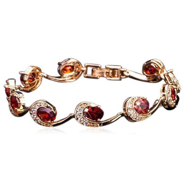 Lambrini - 7 Color CZ Diamonds Gold Bracelet