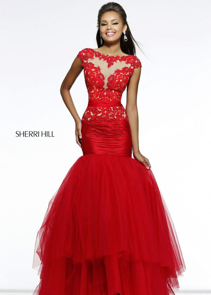 Red prom dresses sherri hill models | Fashion dresses lab