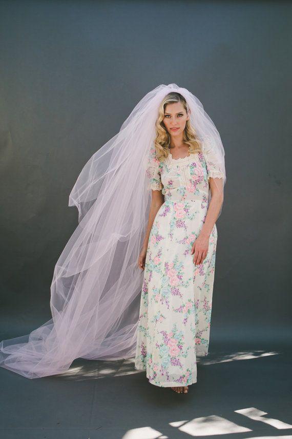 Wedding Veil Bridal Veil Cathedral Veil Fingertip by veiledbeauty
