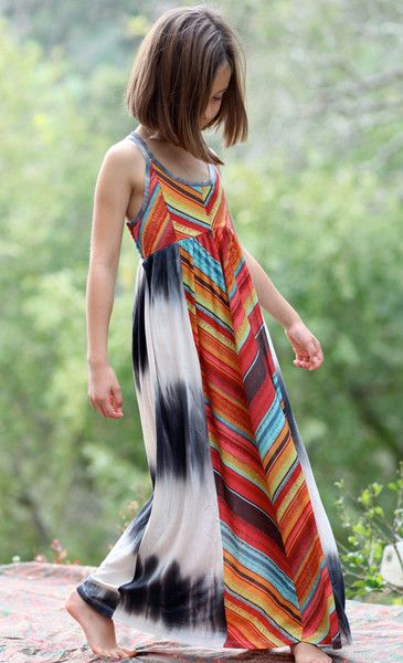 Bunnies Picnic - Truly Me Chevron Maxi Dress - Girls Boutique Clothes